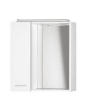 ZOJA/KERAMIA FRESH galerka s LED osvětlením, 60x60x14cm, bílá, levá
