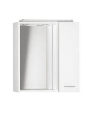ZOJA/KERAMIA FRESH galerka s LED osvětlením, 60x60x14cm, bílá, pravá
