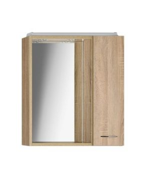 ZOJA/KERAMIA FRESH galerka s LED osvětlením, 60x60x14cm, dub platin , pravá