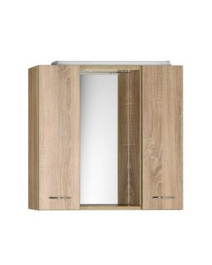 ZOJA/KERAMIA FRESH galerka s LED osvětlením, 70x60x14cm,dub platin