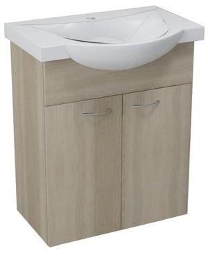 KERAMIA FRESH umyvadlová skříňka 60,60x74x33,7cm,dub platin