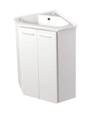 ZOJA umyvadlová skříňka rohová 39x74x39 cm, bílá