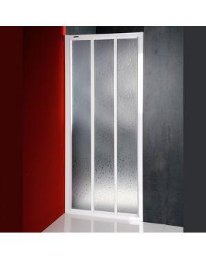 DTR sprchové dveře posuvné 1000mm, bílý profil, polystyren výplň