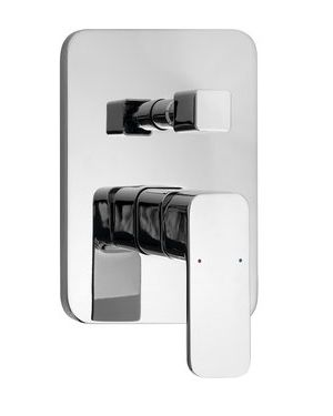 FACTOR podomítková sprchová baterie, 2 výstupy, chrom