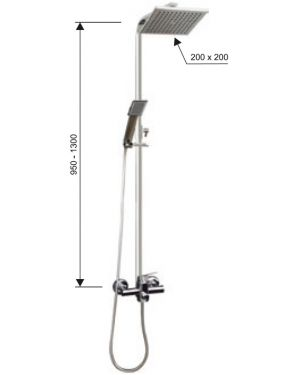GD.3523.B-150 Sprchový set