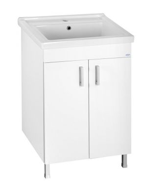 POLY umyvadlová skříňka 56x74,6x46,5cm, 2xdvířka, bílá