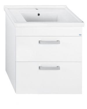 POLY umyvadlová skříňka 76x66,6x46,5cm, 2xzásuvka, bílá