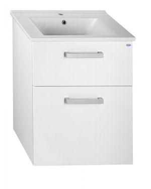 VEGA umyvadlová skříňka 62x72,6x43,8 cm, 2xzásuvka, bílá