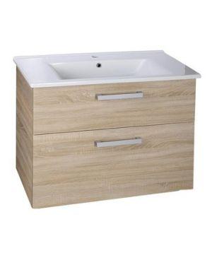 VEGA umyvadlová skříňka 82x67,6x43,8 cm, 2xzásuvka, dub platin