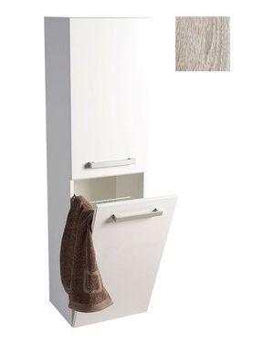 VEGA skříňka vysoká s košem, 40x150x31 cm, dub platin