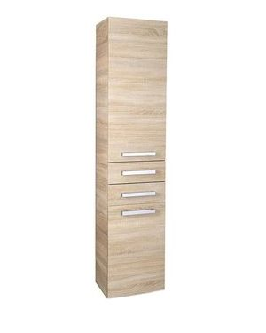 VEGA skříňka vysoká s košem, 40x184x31 cm, dub platin
